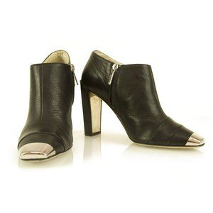 Christian Dior Black Leather Booties Square
